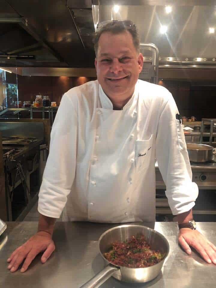 Frank Widmer cooks spirulina at Park Hotel Hyatt zurich
