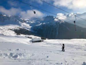 Skiing St-Luc ChandolinVal d'AnniviersSwitzerland