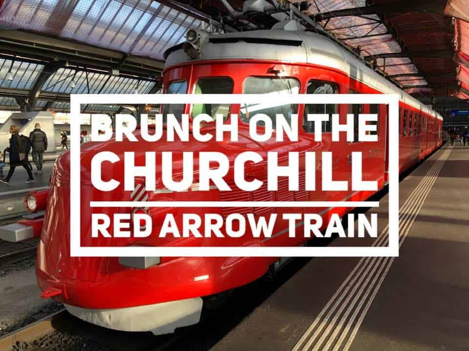 Sunday Brunch by Train on the Churchill Red Arrow from Zurich