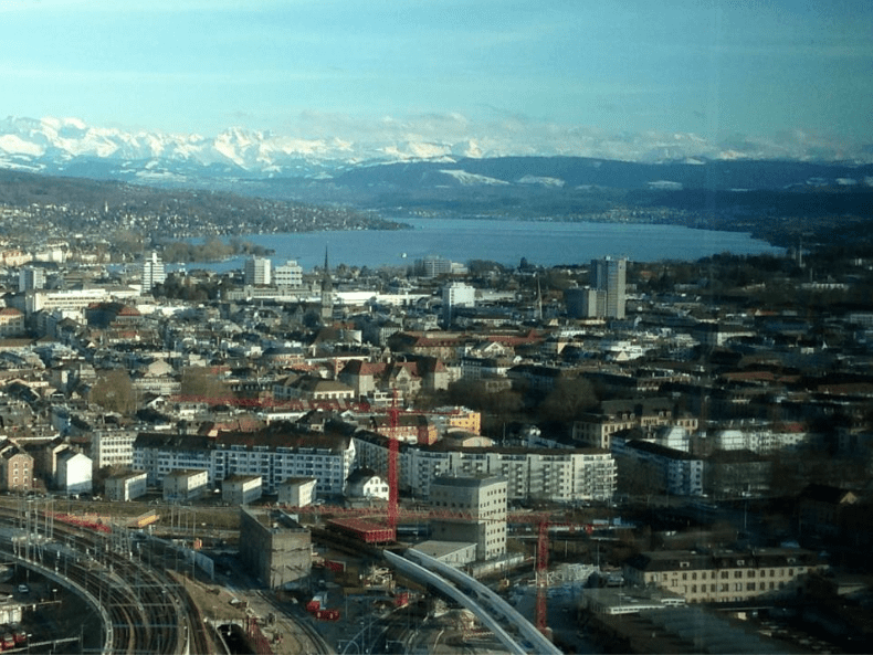 View from Prime Tower Zurich