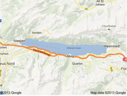 Map of Walensee