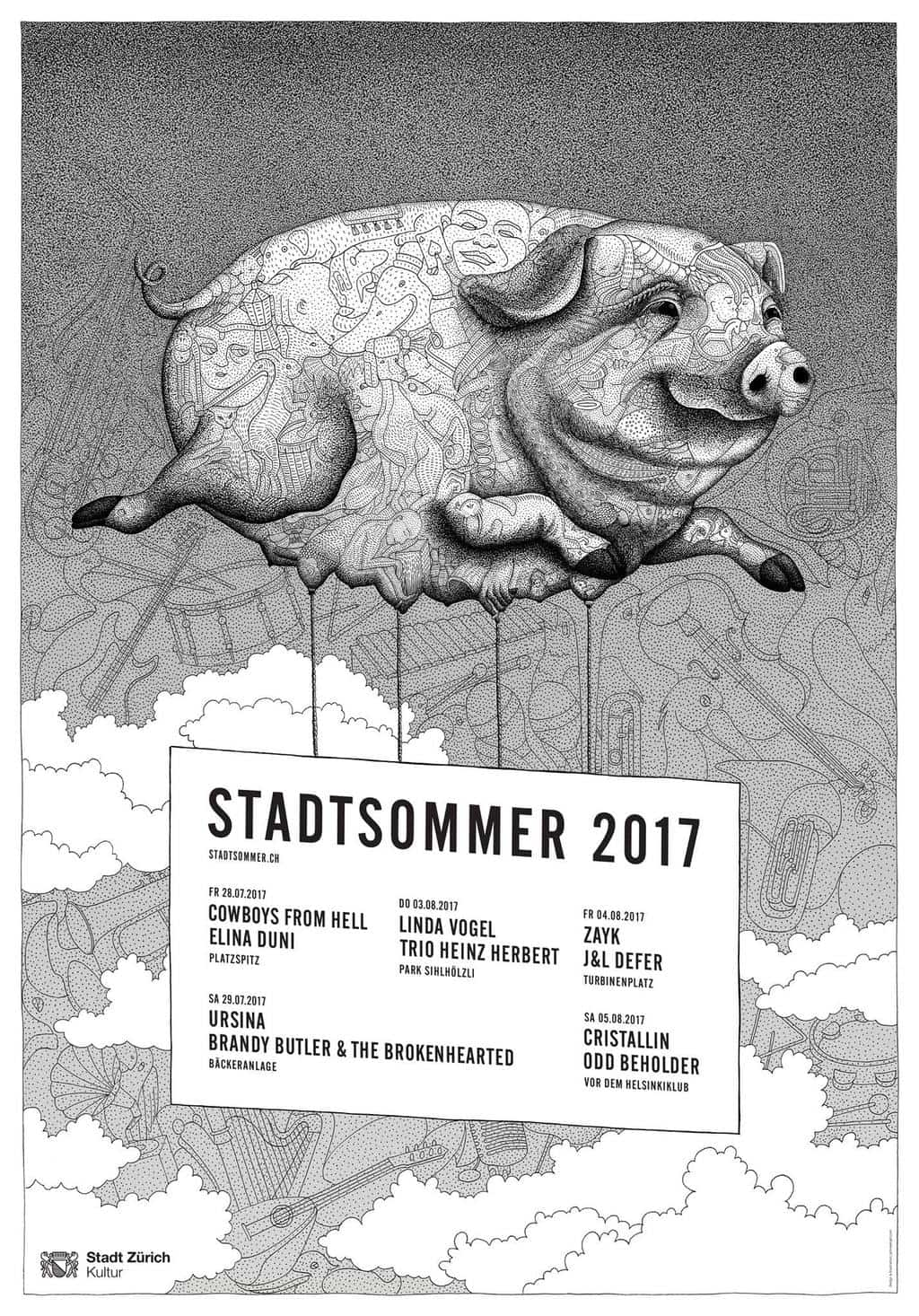 Stadtsommer Zürich Concerts July & August 2017