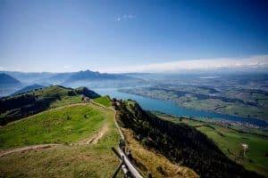 Gotthard Panorama Express Switzerland - mount rigi views