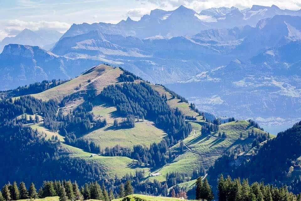 Gotthard Panorama Express Switzerland - mount rigi views