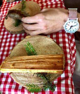 Chef Stefan Wiesner Cooks Emmental AOP URTYP In The Forest