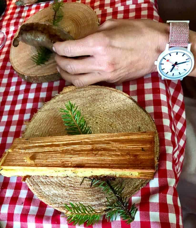 Chef Stefan Wiesner Cooks Emmental AOP URTYP In The Forest