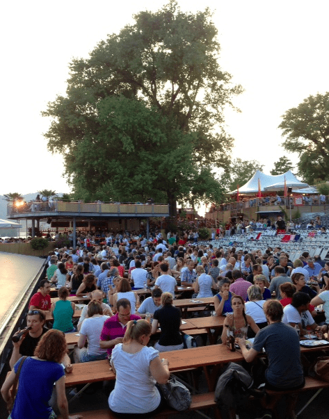 OrangeCinema Openair films on the lake in Zurich