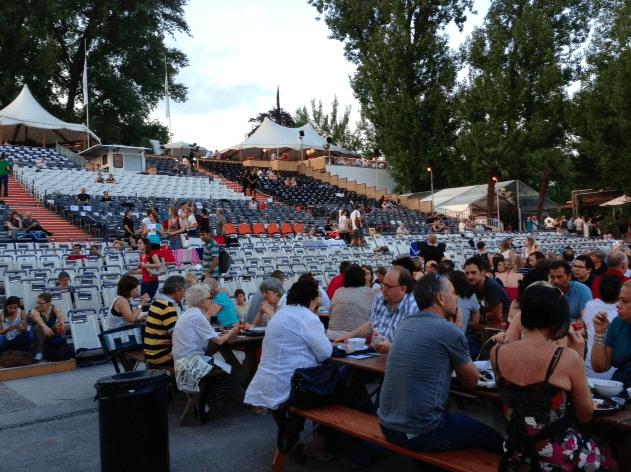 OrangeCinema Openair films on the lake in Zurich