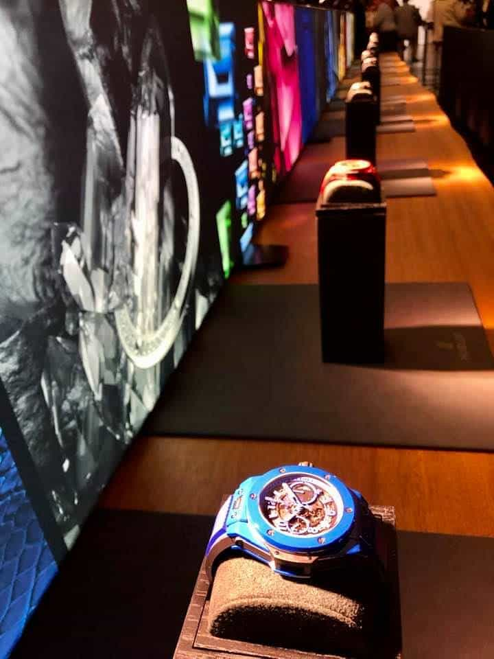 Hublot watches on display at The Art Of Fusion Enzo Enea park Rapperswil
