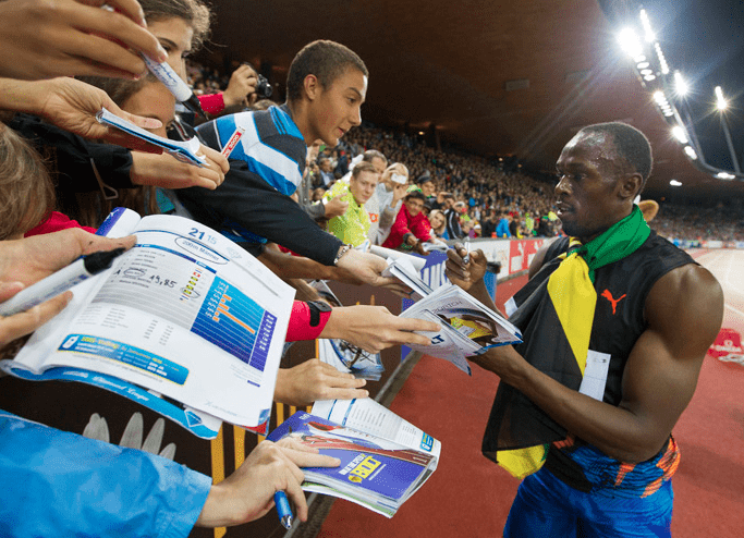 Usain Bolt at Weltklasse in Zurich