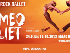 Romeo and Juliet at the Maag Halle – Special Offer 20% discount!