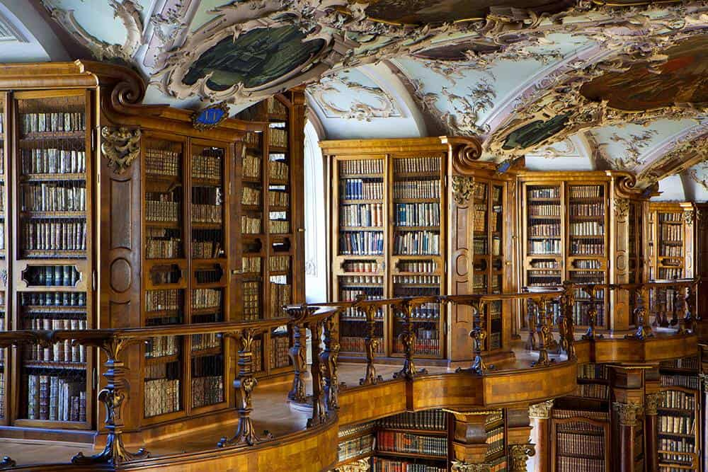 A Day Trip to St Gallen Switzerland. St Gallen Baroque Library