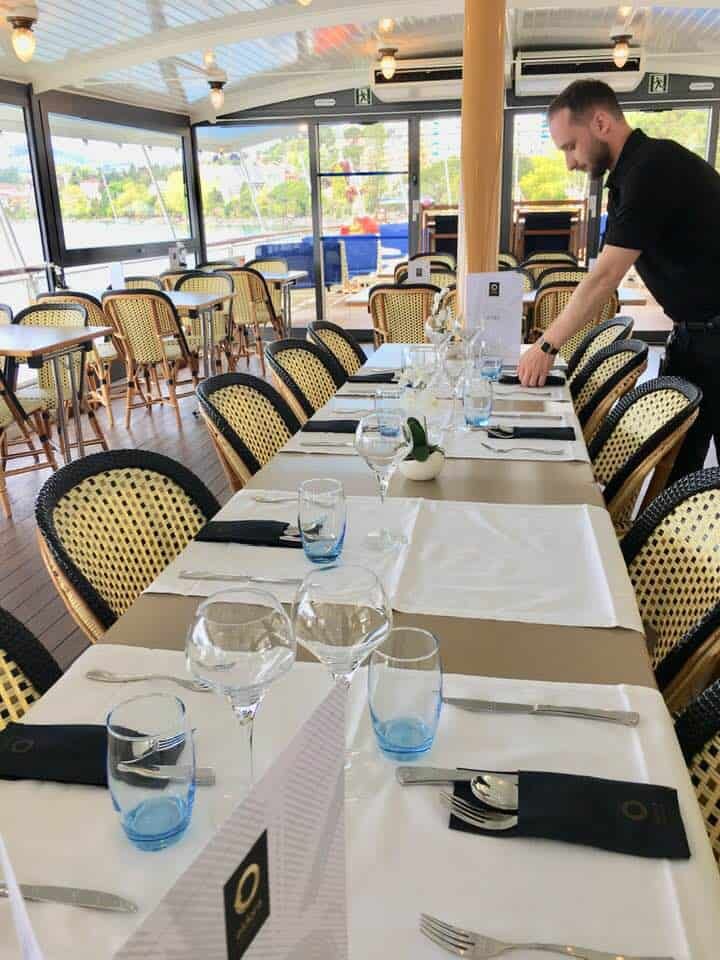 Lunch on board boat trip on Lake Geneva - top things to do in vevey Switzerland