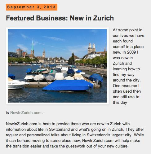 NewInZurich and Set Sails Social Media