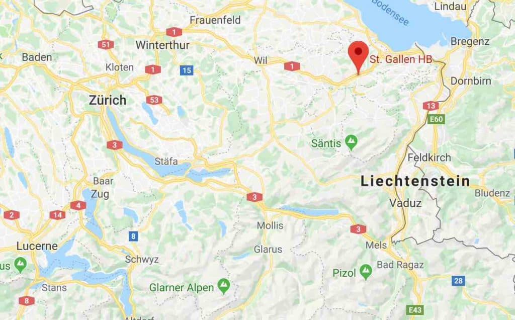Google Map of St Gallen