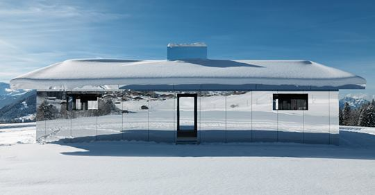 Mirage Gstaad - A Chalet of Mirrors by Doug Aitken
