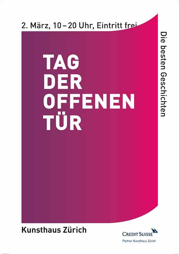 Open Day at Kunsthaus Zurich Free Entrance For All