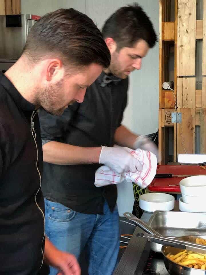 Pascal Schmutz Cooks at Brigitte for FOOD Zurich with Neff