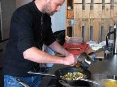 Pascal Schmutz Cooks at Brigitte for FOOD Zurich with Neff
