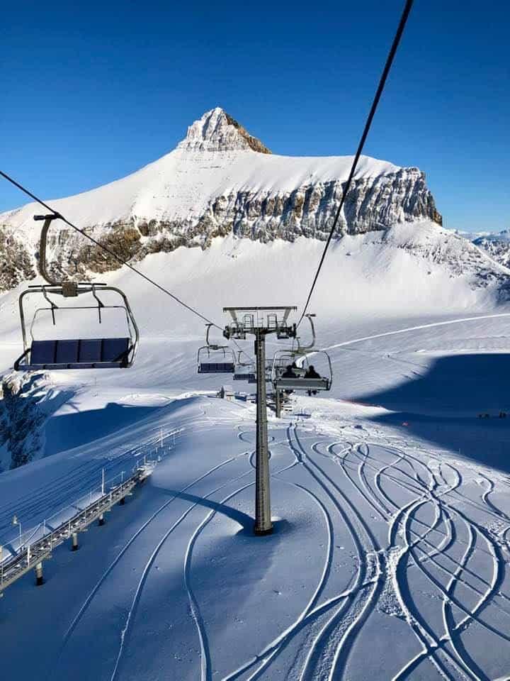 Alpine Chair Lift Glacier 3000