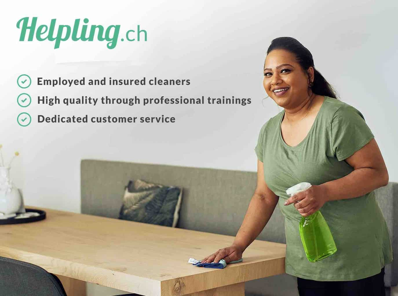 Enjoy A Spotless Home in Switzerland with Helpling