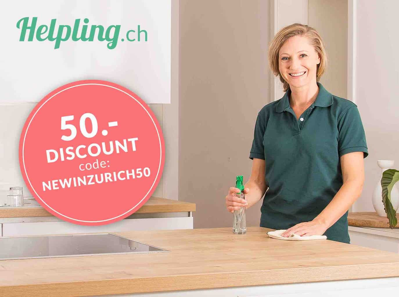 Find a Cleaner for your Home in Switzerland with Helpling