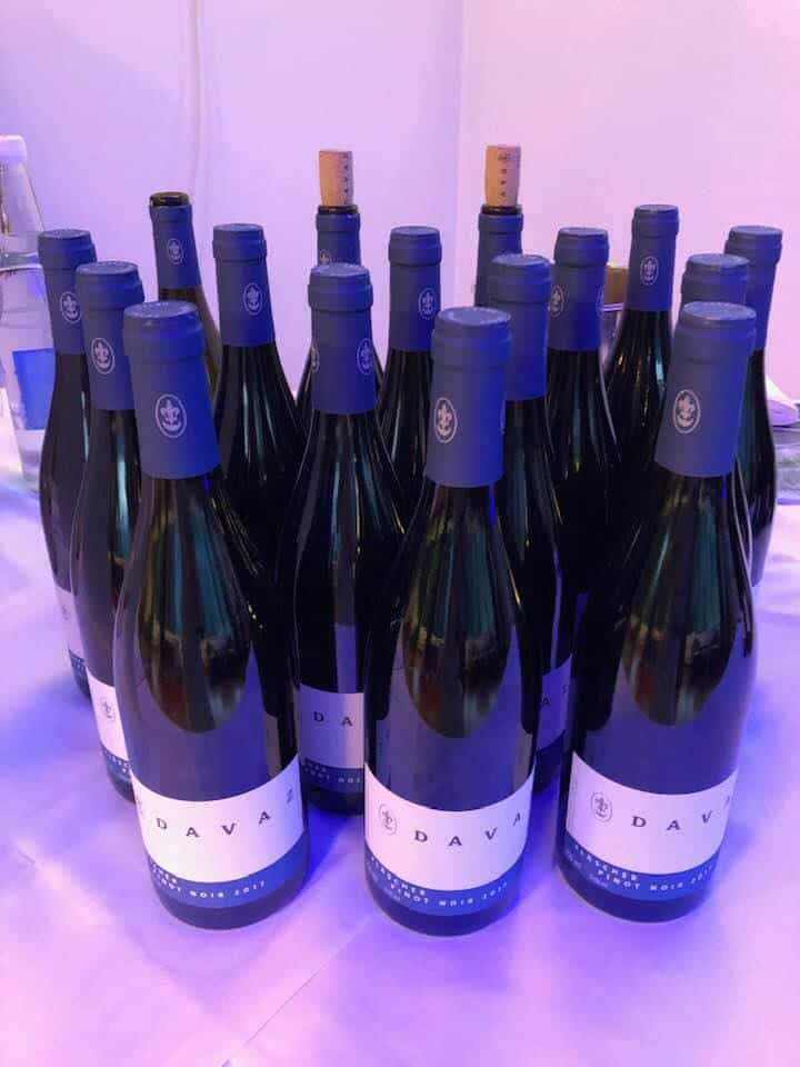 Local wines at Kitchen party Hotel Waldhaus Flims