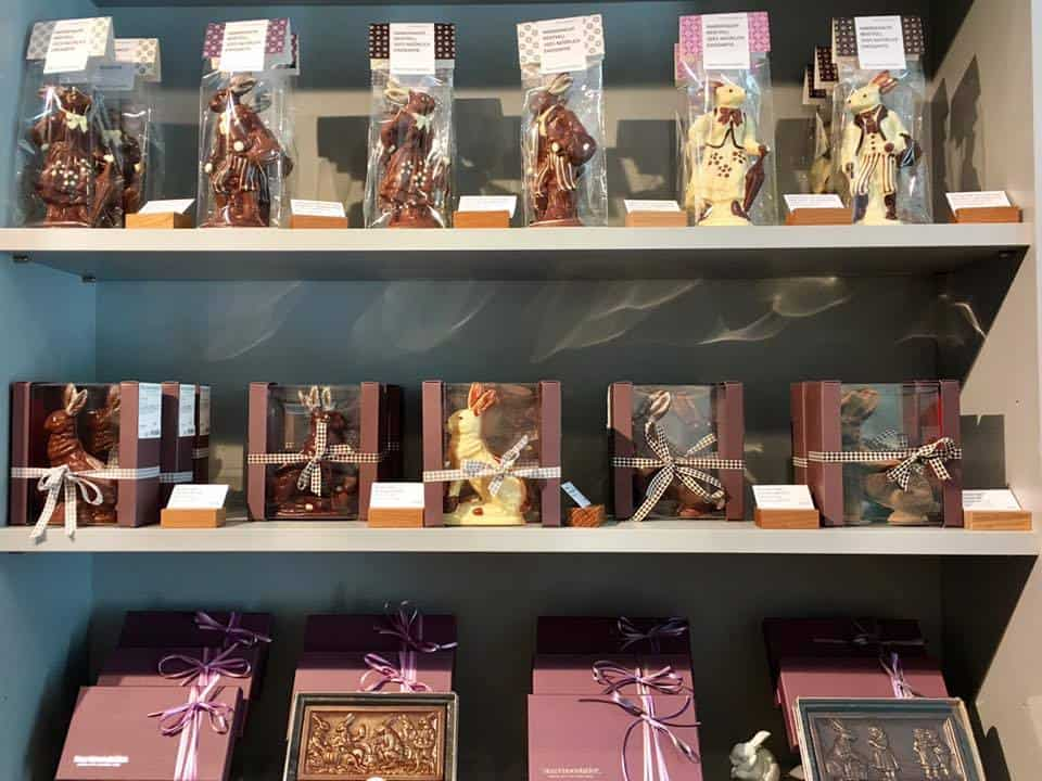 Chocolate bunnies at Max Chocolatier Zurich