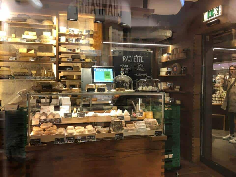 The Cheese Humidor at Jelmoli's Food Market Zurich