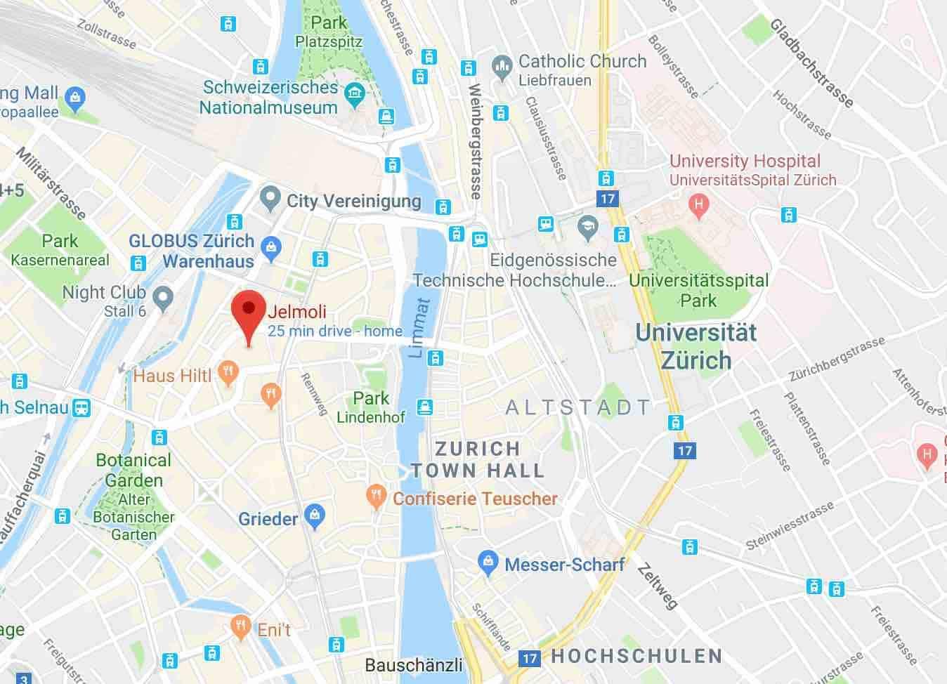 Google Map of Jelmoli Zurich - NewinZurich - Your Guide To Living in on basel map, wittenberg germany map, innsbruck map, swiss alps map, switzerland map, bern map, seine river map, lucerne map, danube river map, munich map, novosibirsk map, rhone river map, geneva map, rhine river map, mediterranean sea map, the hague map, budapest map, kiev map, frankfurt map, minsk map,