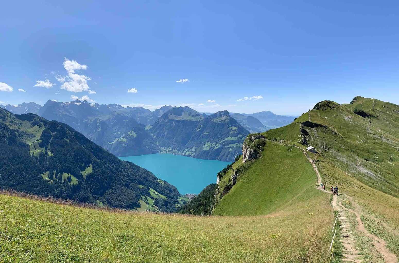 Hiking In Stoos From Fronalpstock to Klingenstock