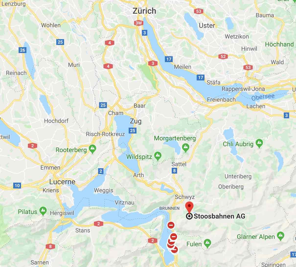 Stoos Google maps