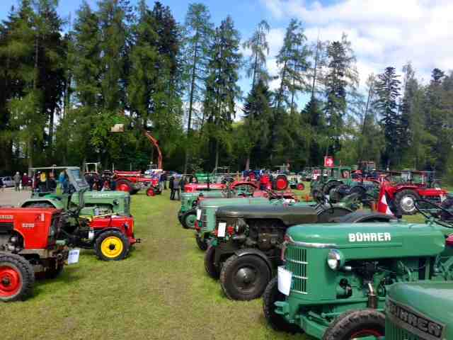 Tractor Show at the Pfannenstiel