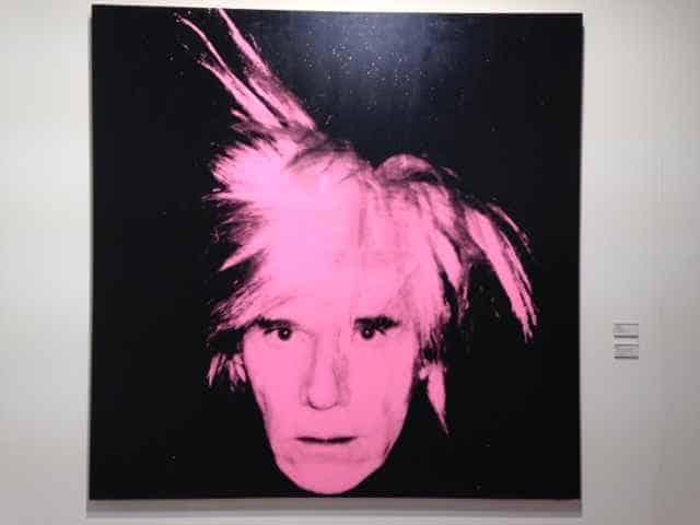 Andy Warhol Purple Fright Wig Art Basel