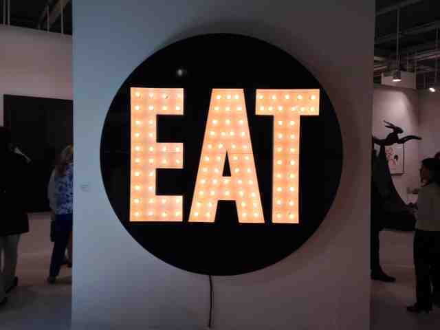 The Electric Eat by Robert Indiana at Galerie Hans Mayer Art Basel