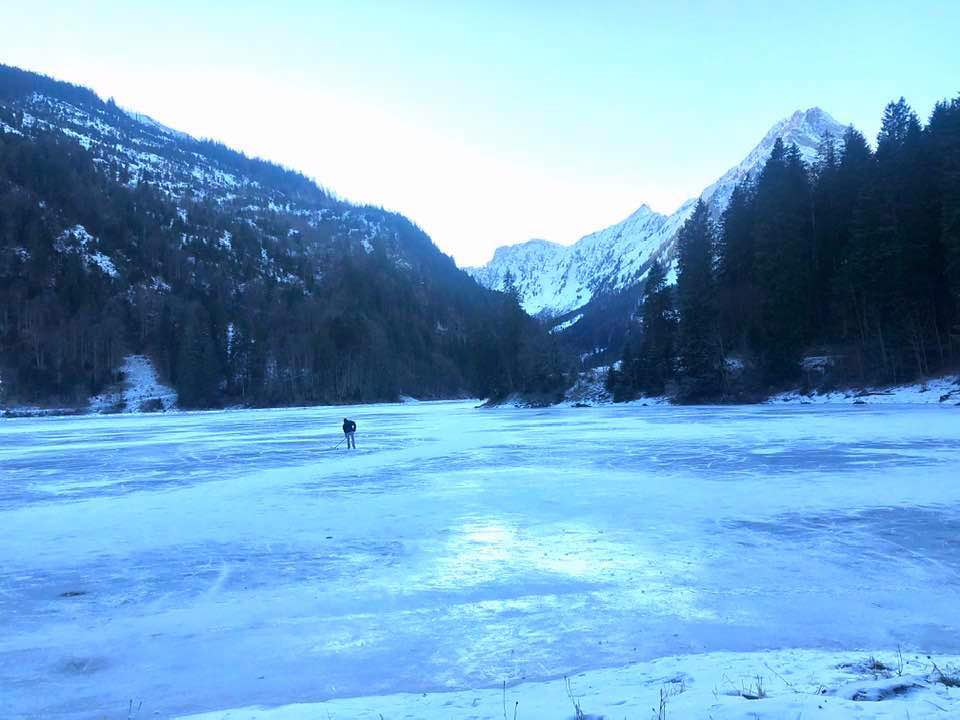 Visiting Lake Obersee in the Ice in Winter