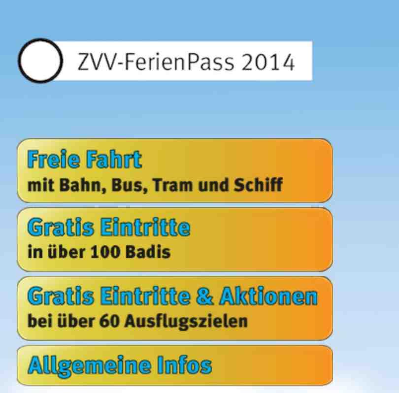 ZVV Sommer Ferienpass for children