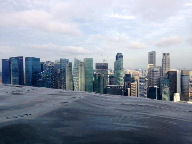 Marina Bay Sands Hotel Infinity pool Singapore