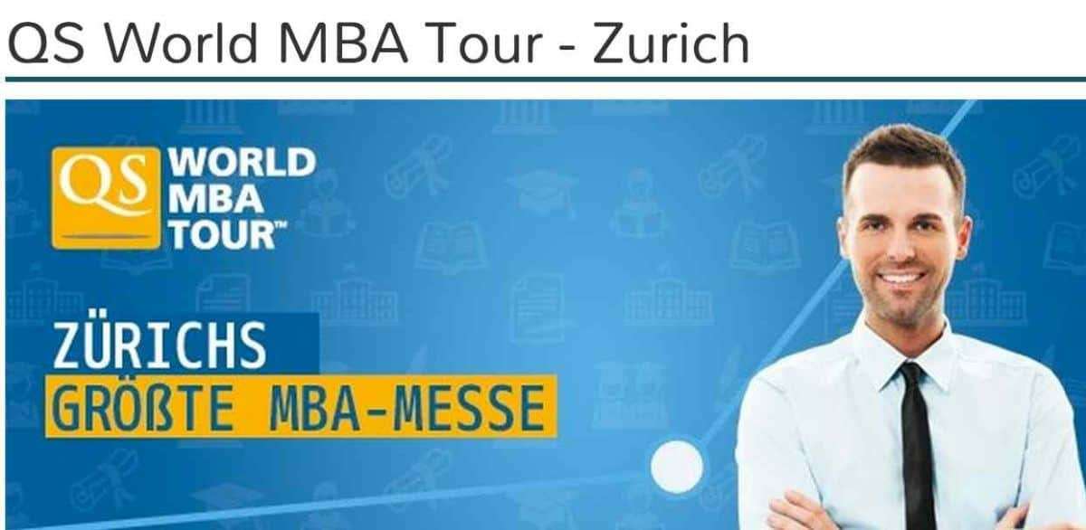 QS World MBA Tour in Zurich
