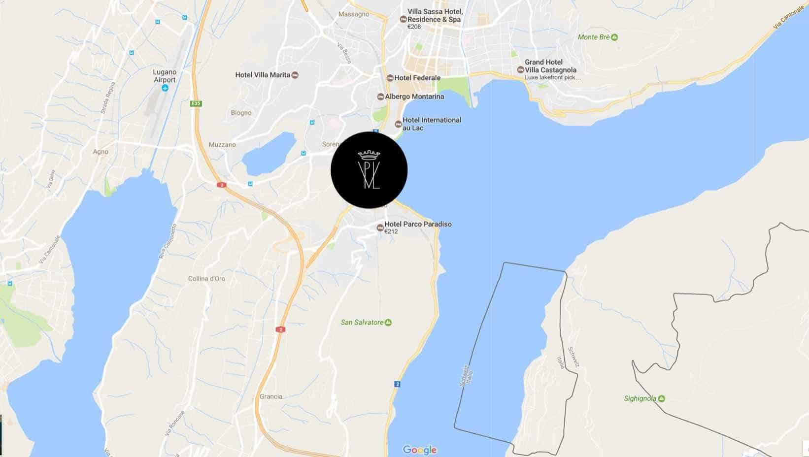 Google maps Villa Principe Leopoldo Lugano