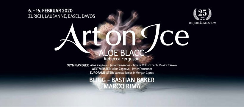 Art On Ice Celebrating 25 years in Switzerland in 2020