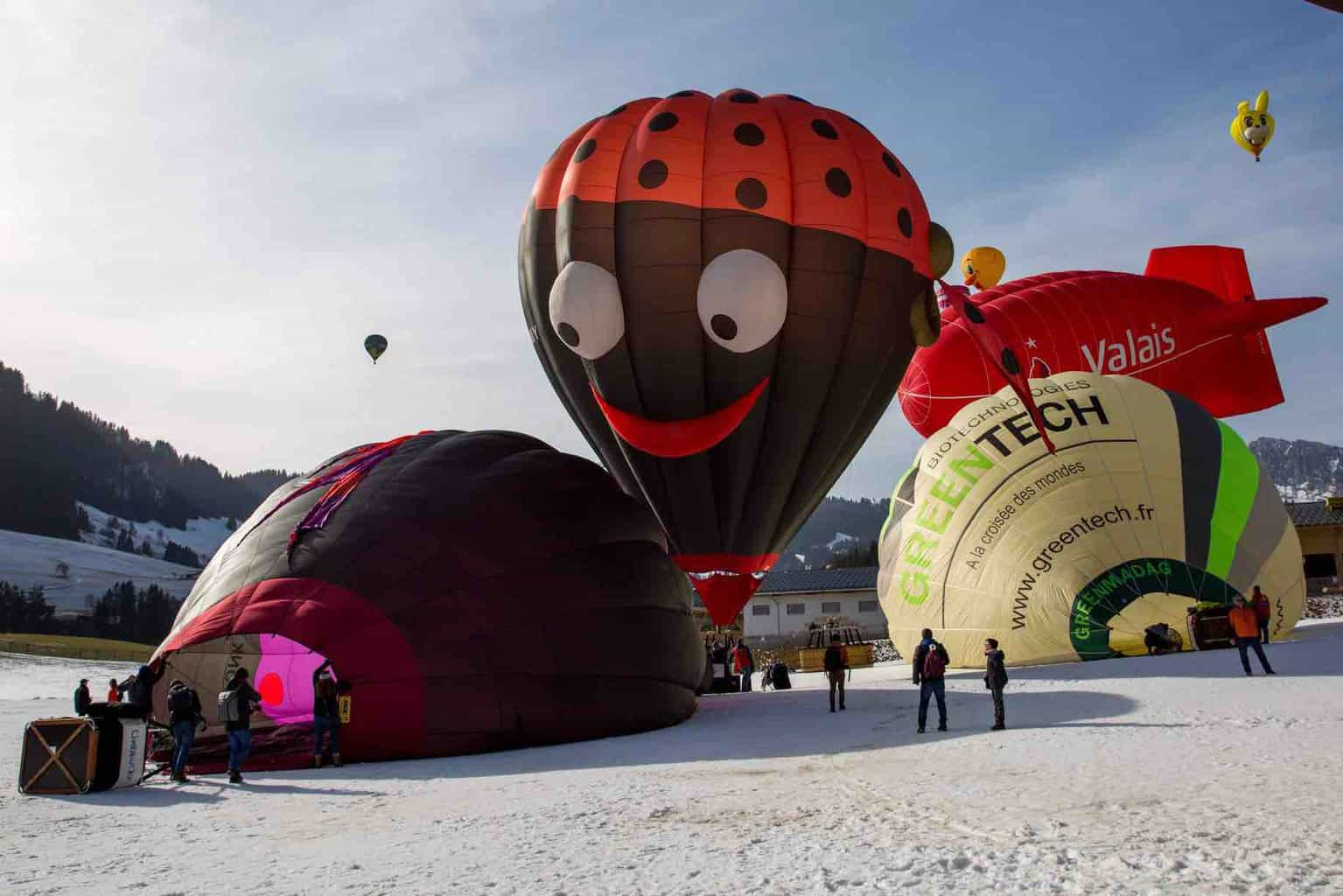 The Fabulous Hot Air Balloons at Chateau d'Oex