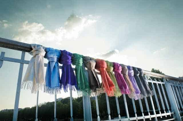 Cashmere scarves in Zurich