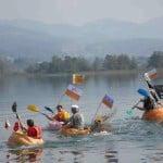 Pumpkin Boat Race on Lake Pfäffikon