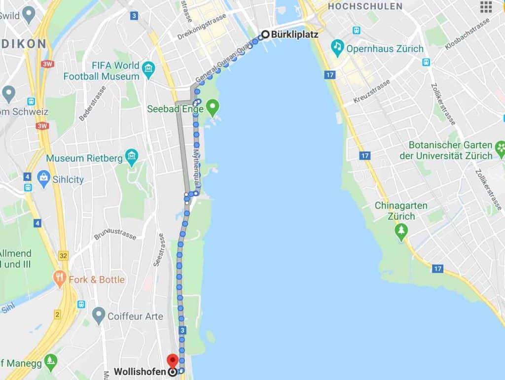 Google maps wollishofen