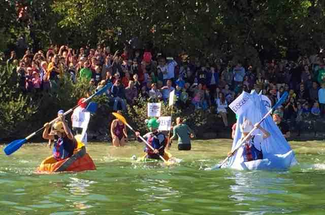 Pumpkin Boat racing at Juckerfarm