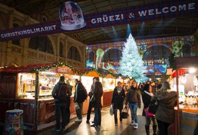 Christmas Market Hauptbahnhof Zurich Caitlin Krause