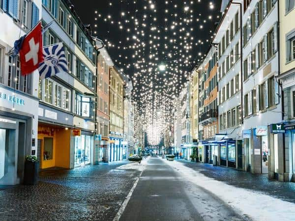 Zurich Christmas Lights © Zurich Tourism