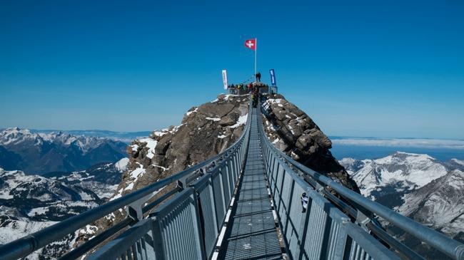 The Tissot Peak Walk Suspension Bridge