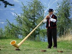 Where Can I see an Alphorn being played?